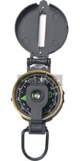 Black Metal Liquid Filled Lensatic Luminous Dial Compass (Item # 399)