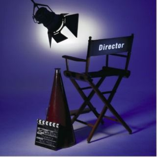 Directors Slate, Chair & Stage Light 2 Acrylic Cut Out