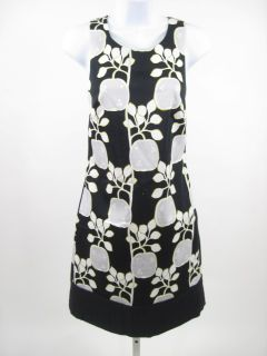 Lisa HO Black Apple Print Sleeveless Dress Sz 2