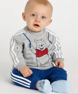 Pcs Boys Kids Little Bear Baby Long Clothes Top Pant Set Suit Outfit