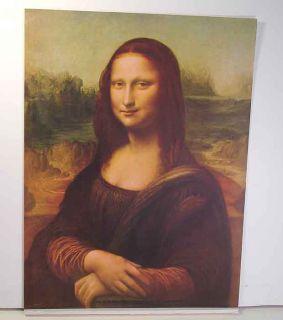 Vintage Mona Lisa Print CA 1950 12 by 16 Attractive