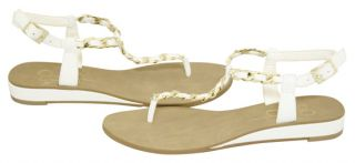 Jessica Simpson Joey Ivory Lisa Nappa Thong Sandals Shoes 9 New