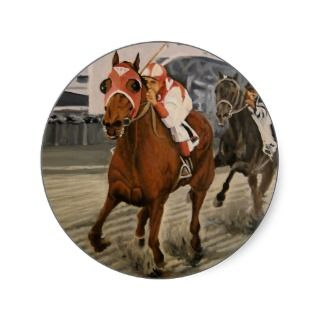 Match Race – Seabiscuit vs. War Admiral Painting Sticker