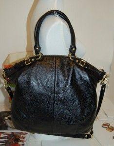 Coach Madison Large Lindsey Black Leather Tote Shoulder Bag 18641 NWT