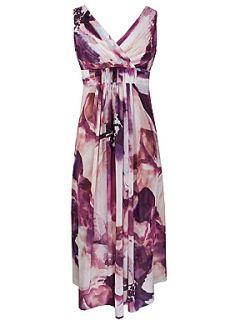 Kaliko Anna print maxi dress Purple
