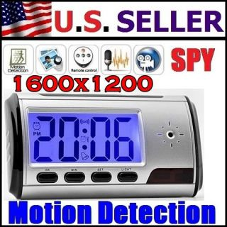 Spy Cam Hidden Camera Nanny Alarm Clock Mini DVR Remote Smart
