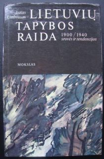 Old Lithuanian Art Deco Book Painting Impressionism Cubism Umbrasas