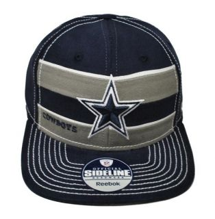 Reebok Dallas Cowboys NFL Football Side Line Navy Gray Men Hat Cap