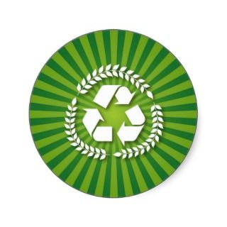 Green Eco Recycling Sign Sticker