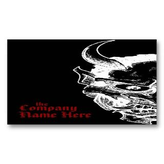 hannya mask business card template