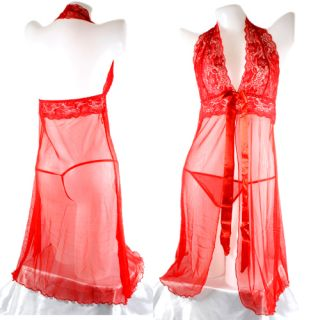Babydoll Sexy Gowns Dress Lingeries Sleepwear Thong Gstring