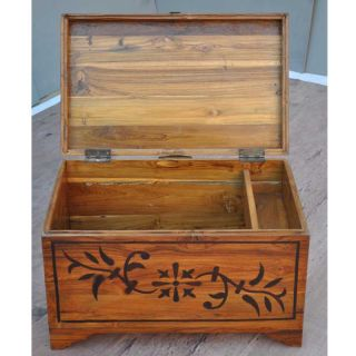 Antique Inlay Coffee Table Trunk Blanket Storage Box Chest