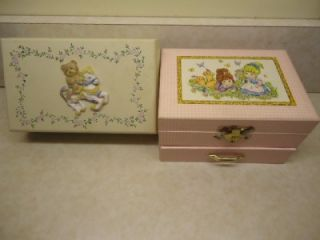 Little Girls Music Jewelry Box w Ballerina Wood Jewelry Box