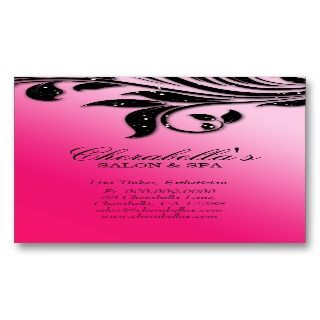 salon jewelry business card flower spa elegant business card great for