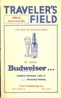 1950 Little Rock vs Birmingham Score Card Unscored