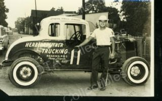 Russ Smith 11 Hot Rod Dirt Track Auto Race Photo 1960s