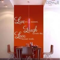 Vinyl Wall Sticker Wall Quote Decals Live Laugh Love B0300