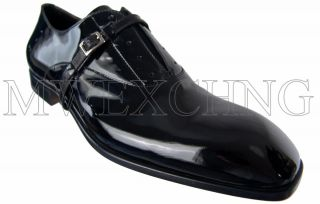 PACIOTTI US 8 Fancy Black Patent Loafers Italian Designer Shoes