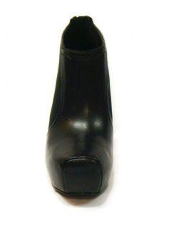 New Jessica Simpson Women Livia Black Leather High Heel Bootie Ankle