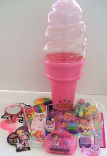 Lisa Frank Party Favor Big Pink Ice Cream Cone Lot