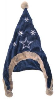 Dallas Cowboys Football Soft Fleece Snowflake Dangle Hat