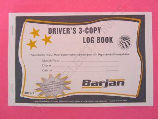 30 PACK OF TRUCK DRIVERS 3 COPY LOG BOOK  TRIPLICATE ( JJ KELLER 009 3