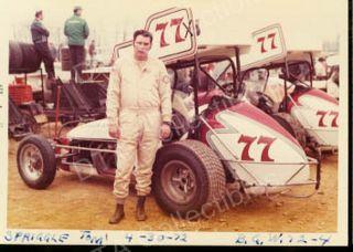 Tom Spriggle 77 Sprint Car Auto Racing Photo 1972