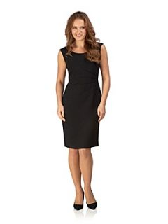 Precis Petite Black Textured Shift Dress Black