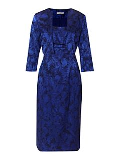Shubette Stretch jacquard dress and matching jacket Royal