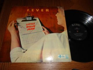 LITTLE WILLIE JOHN Fever LP NURSE COVER 1st Press Black & Silver KING