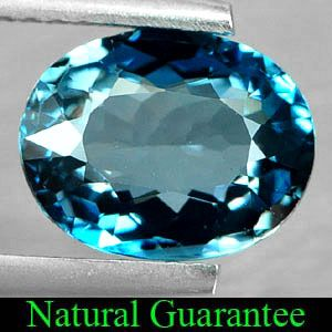 88 Ct Natural London Blue Topaz Oval Shape Gemstone