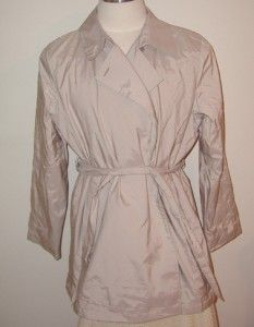 London Fog Womens Khaki Beige Belted Trench Coat Rain Coat Plus Size