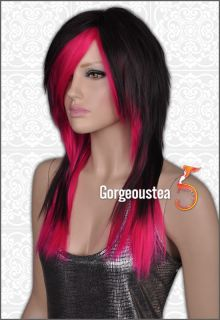 Style Long Straight Womens Full Hair Wig Noble Lively Party