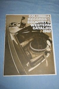Columbia Records 1967 Country Western Catalog Johnny Cash Bill Monroe