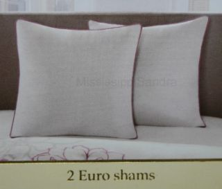 JLA Lola 12pc Cal King Comforter Set Beige Gray Fuchsia Pink Floral