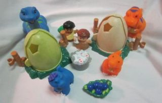 Fisher Price Little People Lil Dino Dinosaur T Rex Brontosaurus