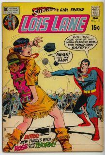 Supermans Girlfriend Lois Lane Comic Book 110 1971
