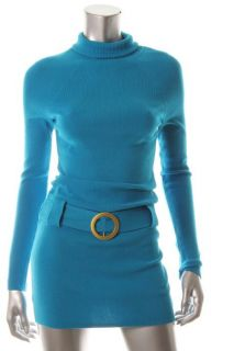 Inc New Key Item Blue Long Sleeve Turtleneck Tunic Casual Tunic Dress