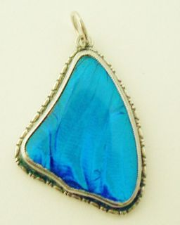 Vintage Thomas L Mott Sterling Silver Butterfly Wing Pendant No Res