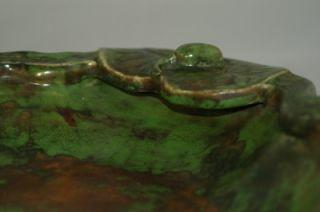 Weller Pottery Frog Pond Lot * Coppertone Pond & Flower Frog in Great