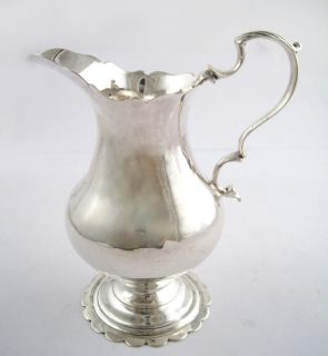 Antique 18c London England Sterling Silver Creamer Dorothy Mills 1762