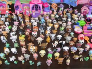 HUGE Littlest Pet Shop Lot 300+ PETS Pet Town Lovin Playhouse Castle