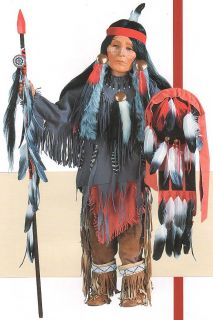 Lone Warrior Native American Indian 32 Porcelain Doll New Timeless
