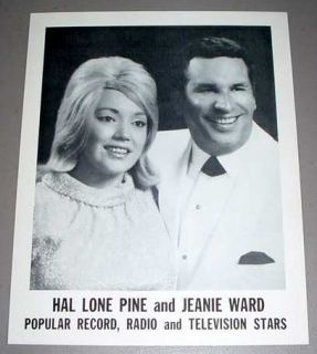 Hal Lone Pine Jeanie Ward Litho 1 Country Singers