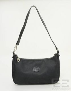 Longchamp Black Nylon Leather Shoulder Bag