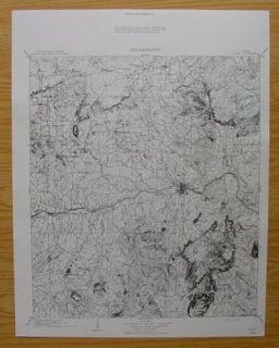 Llano Cherokee Pontotoc Graphite Texas 1909 Topo Map