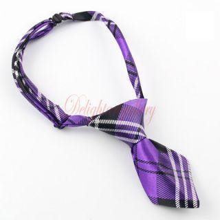 London Plaid Pet Dog Cat Handmade Bow Tie Necktie Clothes Costume 6