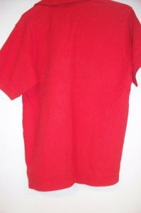 LM Mens Kevin Plantation Collection Red Polo Shirt Size M Gently Used