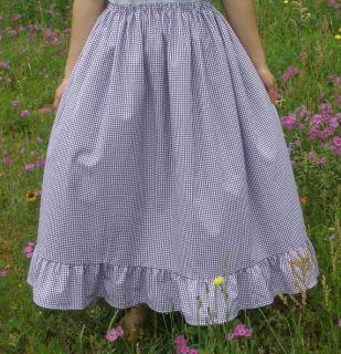 Girl Long Full Skirt Blouse Outfit modest Custom New