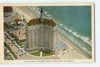 Postcard Villa Riviera Apartment Hotel Long Beach California CA